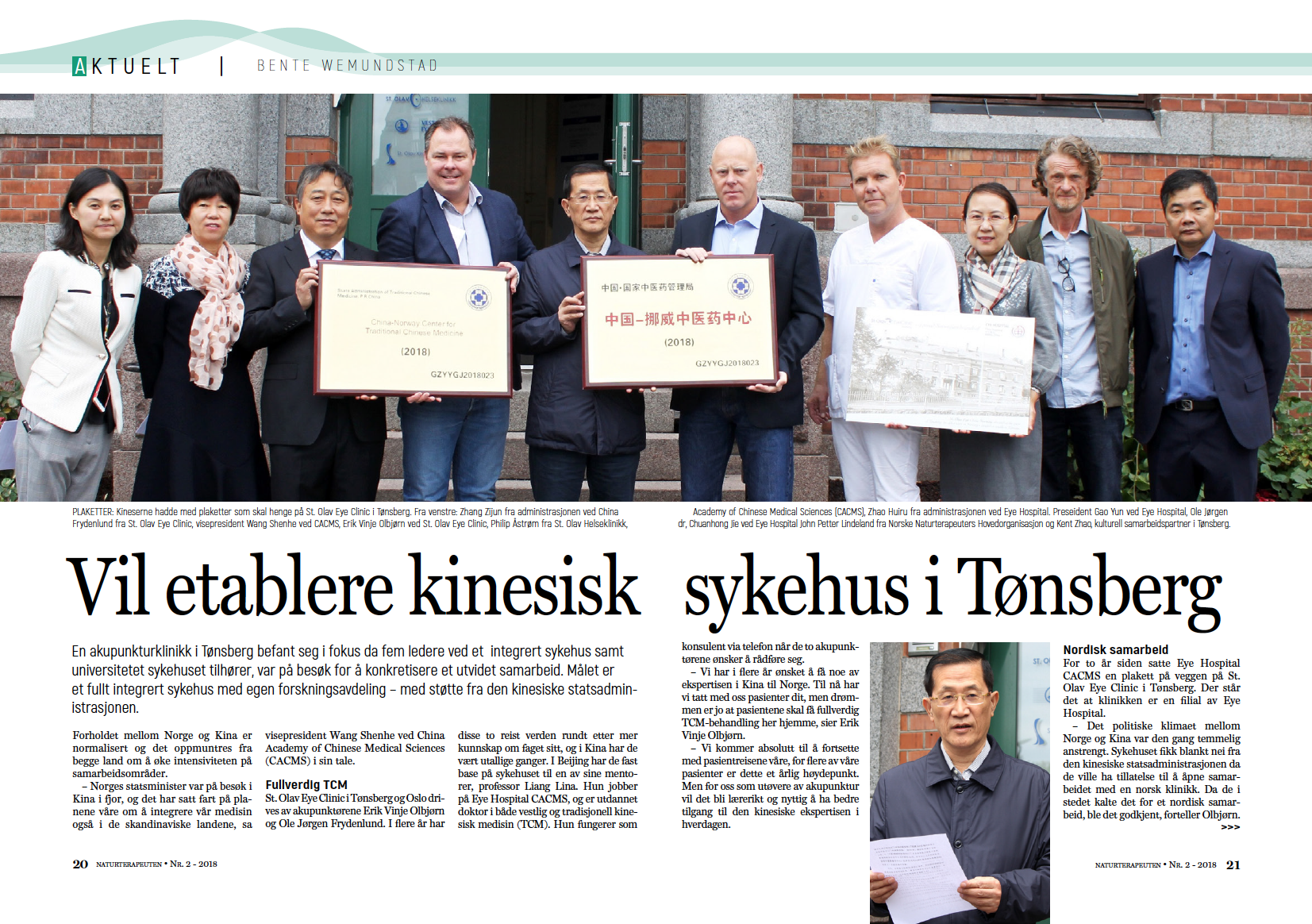 Naturterapeuten: Chinese people want to establish TCM hospitals in Norway