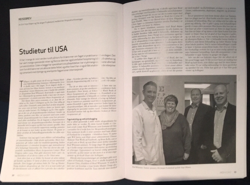 Article in DeQI about our US visit!